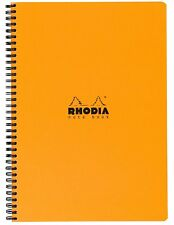 #185009 Rhodia Classic Notepads Top Wirebound 8 ¼ x 11 ¾ Graph Black 80 sheets