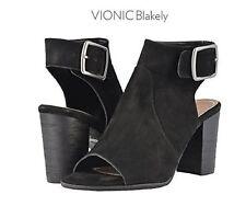 Vionic Orthaheel SELENA JAYA Leather Flip Flop Sandals NATURAL SNAKE 6 M NIB