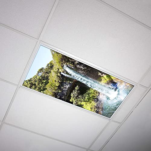 Octo Lights Fluorescent Light Covers 2x4 Fluorescent Light Filters Ceiling Light Covers For Classroom Kitchen Office Waterfall 003 Buy Products Online With Ubuy Oman In Affordable Prices B01m9jr1wi
