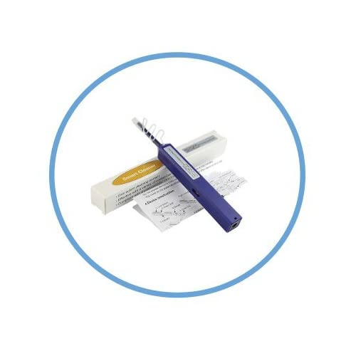 FiberCablesDirect Usage Window 2 Pack LC Fiber Cleaner Smart Click LC//MU Fiber Cleaning Pens UPC//APC 1.25mm Ferrule Connectors 800+ x2 Dynamic Microfiber Sweep//Rotate Motion Contact Cleanings