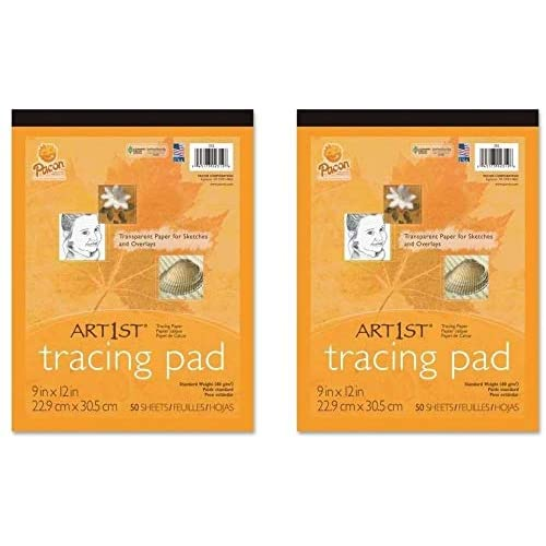 White 2 Pack UCreate Tracing Pad 9 x 12 50 Sheets