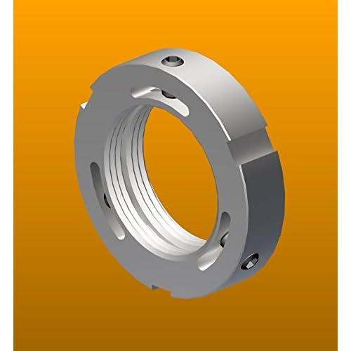 Metric M12 x 1.0 Right-Hand Thread Not Self-Locking Standard KM 1 Replaces FAG INA KM1 Generic KM1 Whittet-Higgins KMS-01 Stainless Steel Shaft /& Bearing Locknut SKF KM 1 Timken KM1,