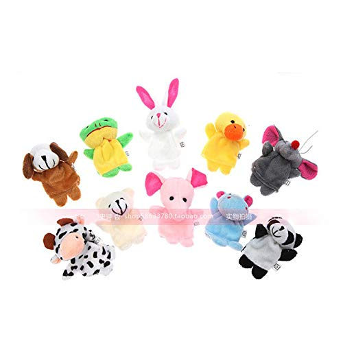 UgyDuky Bunny Hand Puppets 12 Plush Animal Toys for Imaginative Pretend Play Stocking Storytelling White