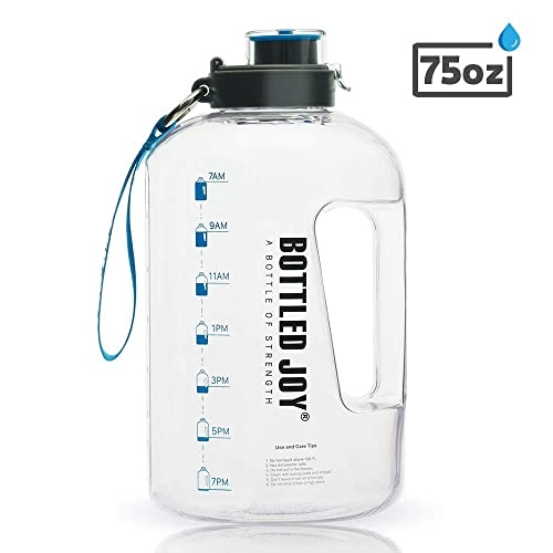 Eco-Friendly BPA Free Premium Sports Water Bottle with Leak Proof Flip Top Lid 32 Ounce SKY HORSE 1 Liter Fast Water Flow