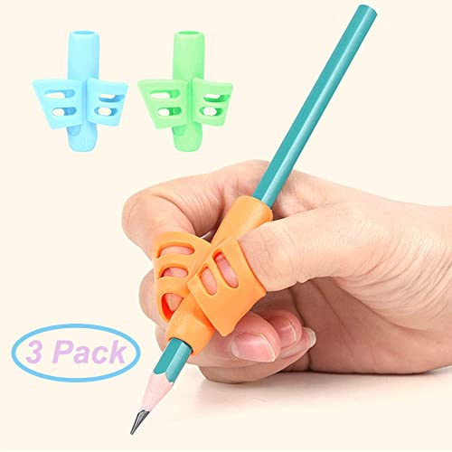 19Pcs Pencil Grips Soft Useful Silicone Writing Aid Pen Gripper for Adults Kids