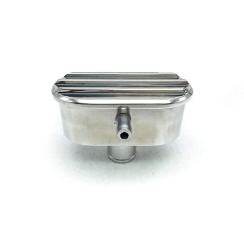 HotRod99 Retro Finned Polished Aluminum Push-in Breather Oval with PCV and tube