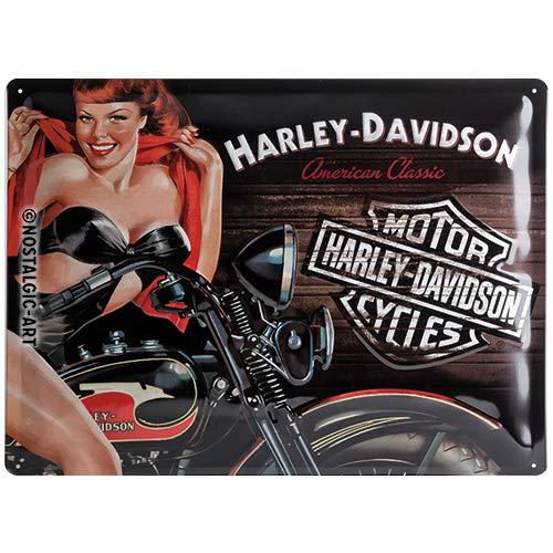 Buy Harley Davidson Biker Babe Large Embossed Metal Sign 16 X 12 Na 4030 Online In Oman B01l6zig4e