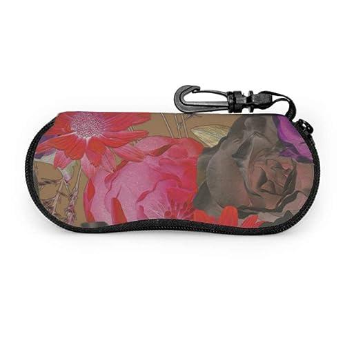 Humming Bird Casual Portable Eyeglass Case Large Hard Zipper Sunglasses Case Protective Eyewear Case For Women Men