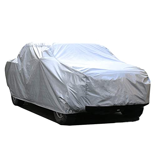 5 Layers All Weather UV Protection Car Cover with Driver Door Zipper for Truck Pickup KAKIT Waterproof Truck Cover Fits up to 242