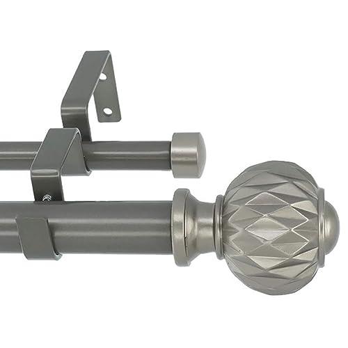 28-Inch to 48-Inch Meriville 1-Inch Diameter Ball Single Window Treatment Curtain Rod Oil-Rubbed Bronze