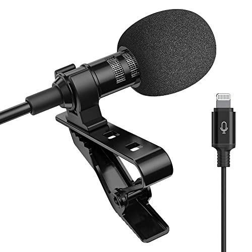 Recording Wireless Lavalier Lapel Microphone Samsung 1//8 Output New Upgrade Android Phone Ipad for Apple iPhone 65 ft Range DSLR Camera Portable Rechargeable UHF Wireless Lav Mic System