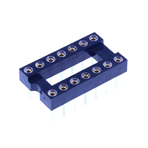 14 PIN IC Socket DIP-14P Chip Adaptor 2.54mm AC 300V Pitch 2 Row For Op Amp
