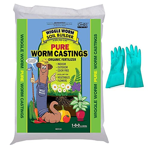 Soil Builder Multi Purpose Natural Fertilizer- Vermicompost Worm Humus by Red Wigglers 4 Litres Organic Fertiliser Pure Worm Castings by Baltic Worm