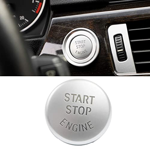 Black DKMUS Start Stop Button For BMW E Chassis 1 3 5 6 Series X1 X3 X5 X6 Start Stop Button Cap Engine Switch Power Ignition Replacement