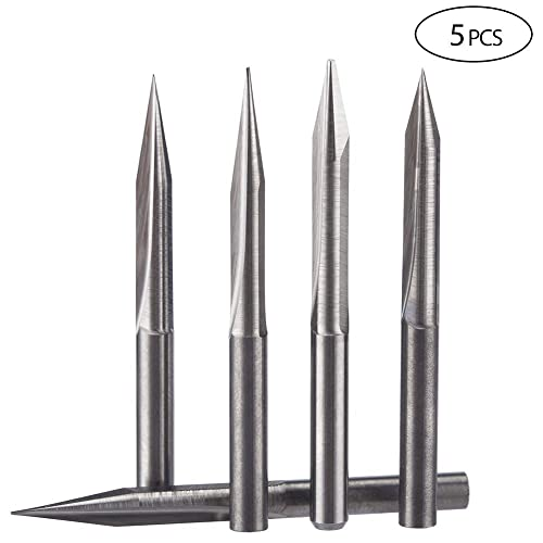 HUHAO Tungsten Steel TiN Coating Ball Nose 2 flute End Mills HRC45 Degree Spiral Up Cut End Mills Engraving Tools CNC Router Bits 2 Flute, 6mm SHK, 10mm CEL, 2.5mm R, 50mm OVL
