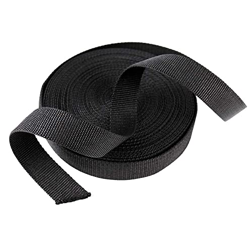 1.0 Inch Briroarke Light-Medium Weight Polyester Imitated Webbing Strap for Outdoor DIY Design Use,Tie Downs Pet Collars
