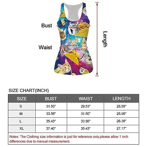Leapparel Womens Cool Design 3D Printed Sleeveless Racerback Tank Top Vest Shirts /…