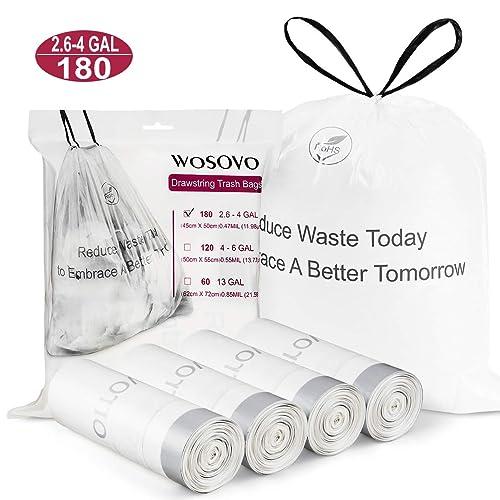 9 Rolls//225 Counts Vababa 8 Gallon Medium Clear Trash Bags