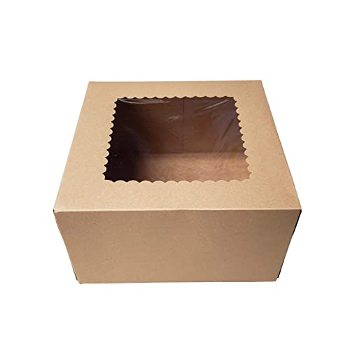 MT Products White Lock Corner Bakery Box Pack of 15 9 Length x 9 Width x 3 Height