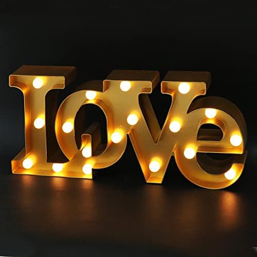 Buy Bright Zeal 16 X 7 Large Love Sign Light Wall Art For Bedroom Gold Led Marquee Letters Lights Love Tabletop Sign Gold Love Sign Wedding Decorations For Reception Tables