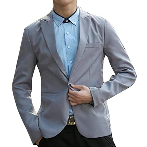 OTW Men Casual Knitting Slim Long Sleeve 1 Button Blazer Jacket Coat