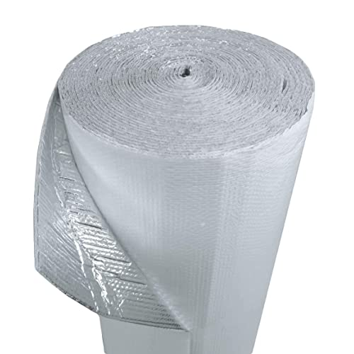 Garages /… Industrial Strength Radiant Barrier Wrap for Weatherproofing Attics RVs Ducts /& More Double Bubble Reflective Foil Insulation: Windows No Tear Commercial Grade 4 X 125 Ft Roll