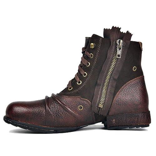 otto zone leather chukka boots for men fashion zipperup