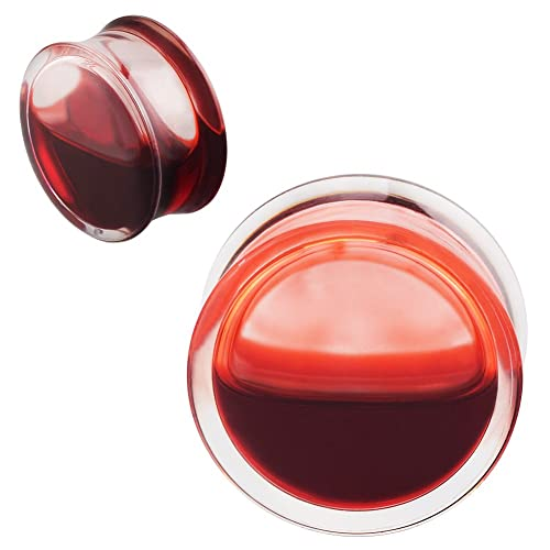 916 Red Plug 78 58 PAIR silicone Ear PlugsGauges  12 34