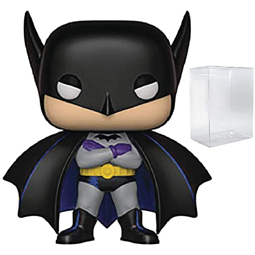 Funko Pop 1991 DC Comics Heroes: Batman 80th Red Rain Batman Includes Compatible Pop Box Protector Case Vinyl Figure