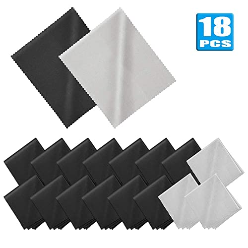 Black Super-Soft Microfiber Lens//Cleaning Cloth for TV//LCD Screen//Camera//Lenses and Eye Glasses LCD Cloth 7x 8 Cosmos 10 PCS