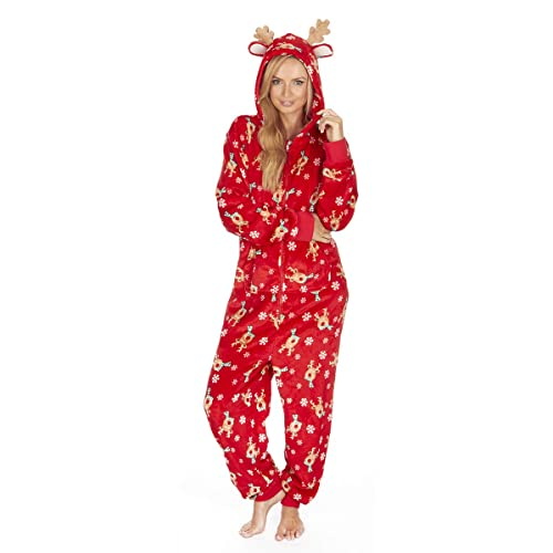 Forever Dreaming Ladies Supersoft Festive Christmas Dressing Gown