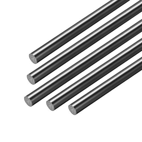 Polyoxymethylene Rods Engineering Plastic Round Bars uxcell 2pcs Plastic Round Rod 1//2 inch Dia 20 inch Length Green POM