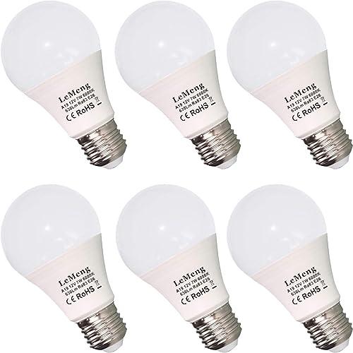 ChiChinLighting® 4-Pack E26 12v LED Bulb 7 Watts AC DC Compatible 12 Volt LE...