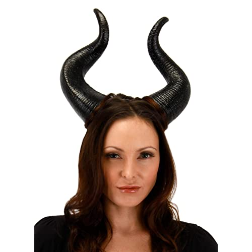 Cherry Juilt Halloween Costumes Horns Hat Deluxe Headpiece for Women Girls Adult