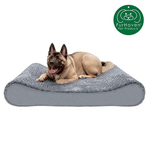 Orthopedic Micro Velvet Ergonomic Luxe Lounger Cradle Mattress Contour Pet Bed w// Removable Cover for Dogs /& Cats Available in Multiple Colors /& Styles Furhaven Pet Dog Bed