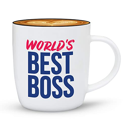 Buy Gifffted The Worlds Best Boss Ever Coffee Mug Bosses Day Gifts Ideas Present For My Greatest Boss Male Or Female Men Women Office Gift Mugs Birthday Leaving Christmas Bold Cup 13