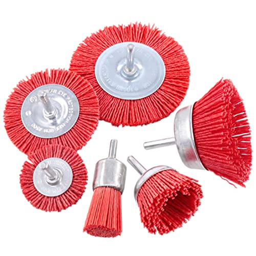 3/'/' Nylon Filament Abrasive Wire Cup Brush With 1//4 Inch Shank For Removal Rust