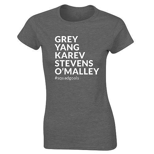 Grey Yang Karev Stevens O/'Malley squadgoals t-shirt fitted short sleeve womens