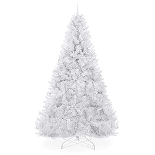 Best Choice Products 6ft Premium Hinged Artificial Christmas Pine Tree Wsolid Metal Stand 1 000 Tips White Buy Products Online With Ubuy Oman In Affordable Prices B07k4ht2z6