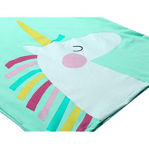 100/% Cotton Short Sleeve /& Pants Sleepwear Cute Jammies Set Size 6-16 Big Girls Summer Unicorn//Panda Pajamas Set