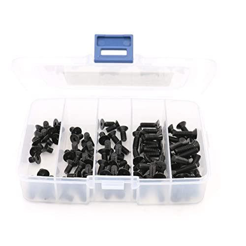iExcell 500 Pcs 10.9 Grade M3 x 6//8//10//12//16//20mm Alloy Steel Hex Socket Button Head Cap Screws Bolts Nuts Assortment Kit Black Oxide Finish