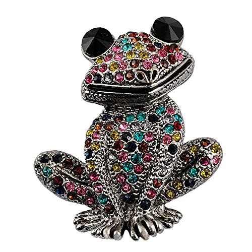 5812e13b4 sticks jewelry Cute Animal Insect Brooch Mixed Color Rhinestone Wedding Brooch  Female Frog Fashion Jewelry Good