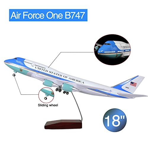 LESES 1:130 Scale LED Light Model Airplane American Boeing 787 18 inches Resin Display Plane Model