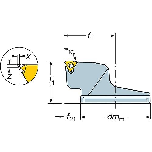 Right Hand Cut iLock Interface Sandvik Coromant with Coolant Steel CoroThread 266 head for thread turning SL-266RKF-252517-16
