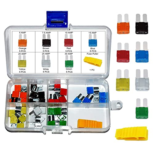 Marine or Electronics Applications Up to 12V Contains 42 Assorted ATM Fuses and Tester Seachoice 11433 ATM Fuse Value Pack for Auto