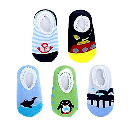 CozyWay Baby Anti Slip Crew Socks 12 Pack with Grips for Toddlers Little Boys Girls Infants Kids Non Skid/…