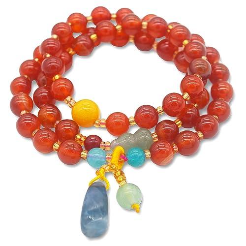 TIDOO Jewelry Womens Tassel Charm Bracelet Vintage Beads Lucky Bracelet for Girls