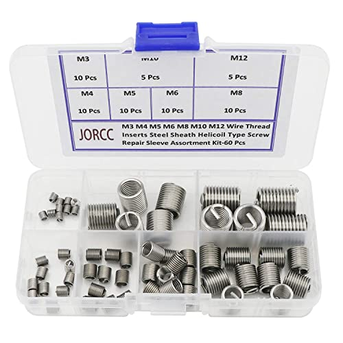 Ochoos 100Pcs Stainless Steel 304 Coiled Wire Helical Screw Thread Inserts M8 x 1.25 x 2D Length Thread Repair Helical Insert