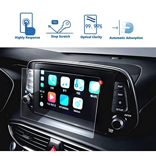 LFOTPP Car Navigation Screen Protector for 2019 Passport Pilot 8-Inch Tempered Glass 9H Hardness Car Infotainment Display Center Touch Protective Film Scratch-Resistant