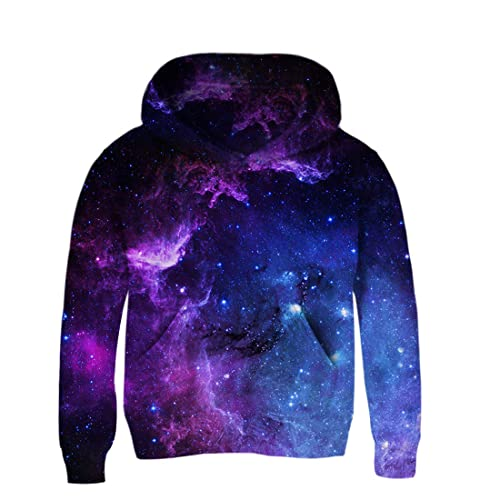 AIDEAONE Kids Boys Girls 3D Print Fleece Pullover Hoodies Sweatshirt with Kangaroo Pocket